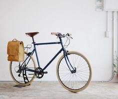 Our team in Tokyo crafted this customized Sport in Matte Indigo with ivory tires a semi-rise handlebar brown accessories and our collaborative pannier with @makr_ (well done) #tokyobike #tokyobike_jp by tokyobike_nyc