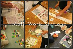 Lots of ideas for K-1 math workstations