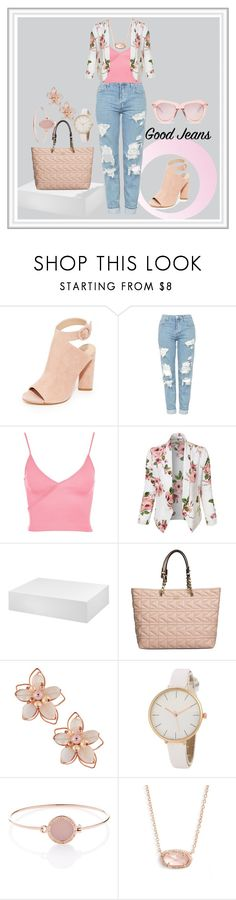 """Tear it up: Distressed Denim"" by maegz88 ❤ liked on Polyvore featuring Kendall + Kylie, Topshop, LE3NO, Karl Lagerfeld, NAKAMOL, Michael Kors, Kendra Scott, Karen Walker, distresseddenim and contestentry"