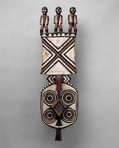 Twentieth-century painted wooden Bwa leper mask from Burkina Faso; the mask represents lepers, believed to facilitate contact with the spirit world. (Metropolitan Museum of Art)