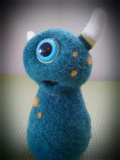 Baby Emm - needle felted sculpture by Alix Jai