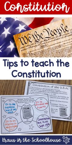 Literature: We The Kids by: David Catrow Strand: Grade - Government Strand) - A constitution is a written plan for government. The Ohio Constitution and the U. Constitution separate the major responsibilities of government among three branches. Social Studies Notebook, 4th Grade Social Studies, Social Studies Activities, History Activities, History Education, Teaching Social Studies, Teaching History, Teaching Tips, Elementary Social Studies
