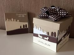 Melli's StempelParadies Stampin Up, Edgelits Schlittenfahrt, HerbstWinterkatalog SU, Explosionsbox (Kopie) 3d Christmas, Stampin Up Christmas, Handmade Christmas, Xmas Cards, Holiday Cards, Exploding Box Card, Jingle All The Way, Stamping Up, Homemade Cards
