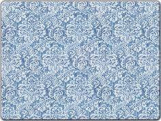 $49  Hadley Table Blue Denim Hard Placemats, Damask Denim SET OF 4