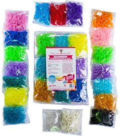 5400pc Rainbow Braid Rubber Bands - RAINBOW Loom Refill Set