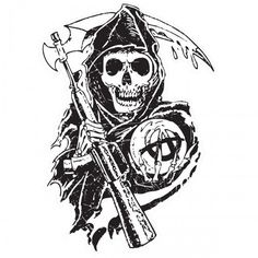 Sons of Anarchy Reaper Wall Decal