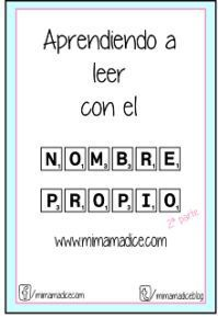 nombre propio mimamadice.com Name Activities, Learning Activities, Kids Learning, Preschool Education, Flipped Classroom, Pre Writing, Teacher Tools, Home Schooling, Word Work