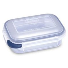 2.5 Cup Ultra Latch Rectangular Locking Container by Sterilite. $8.68. Ultra+Latch Latching Food Storage Containers are ideal for everyday food storage needs, providing solutions for leftovers, snacks, dry foods, and more. Ultra+Latch clear latching containers are available in nine different sizes and feature a domed locking lid with leak-proof gasket seals. The square and rectangle shapes store and stack efficiently, are safe for freezer, microwave, and dishwasher use, a...