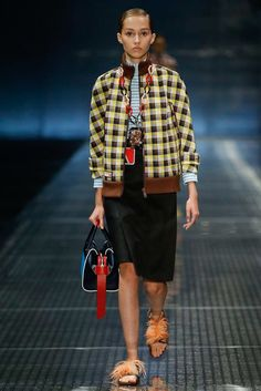 Prada Spring 2017 Ready-to-Wear Fashion Show  Love this checkers jacket