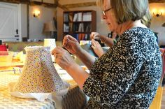 Traditional lampshade making course taught by Angela Constantinou, Cocoon Home