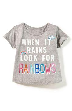4b94a8709 Main Image - Peek When It Rains Tee (Toddler Girls, Little Girls & Big