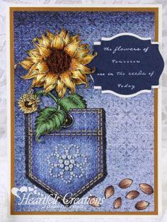 Heartfelt Creations | Sunflower Jean Pocket