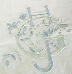 monogram with flowers