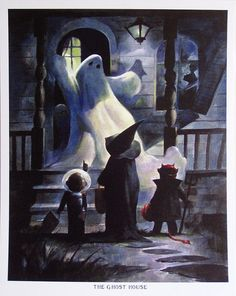 Mike Hoffman Spooky Halloween Trick or Treat Print by mikehoffman