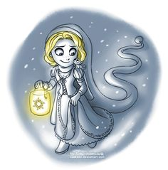 Winter Rapunzel by daekazu