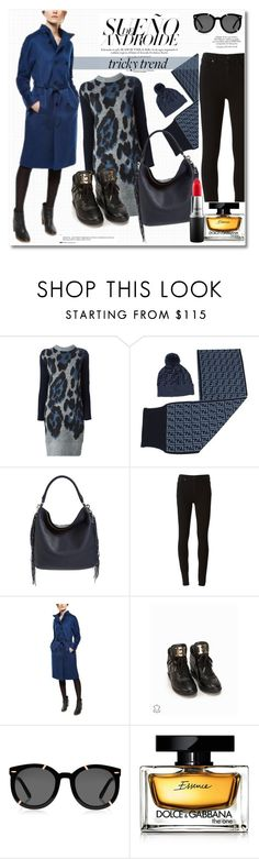 """Get the look"" by vkmd ❤ liked on Polyvore featuring Sacai Luck, Fendi, Rebecca Minkoff, Paige Denim, MICHAEL Michael Kors, Karen Walker, Dolce&Gabbana, Anja, MAC Cosmetics and women's clothing"