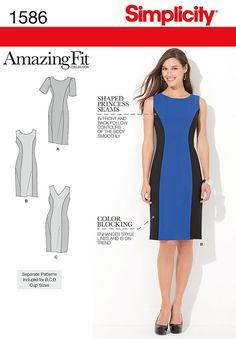 S1586 Amazing Fit Dress - 10-12-14-16-18