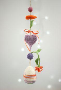 Osterei Nadel Filz Ei Ornament von FeltArtByMariana auf Etsy
