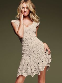 crochet sweaterdress.