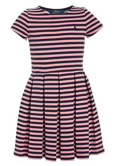 Bestill Polo Ralph Lauren STRIPE PONTE - Strikket kjole - rugby pink/newport navy for kr 849,00 (09.12.17) med gratis frakt på Zalando.no Polo Ralph Lauren, Abercrombie Fitch, Newport, Harbor Island, Color Rosa, Mini Me, Kids Outfits, Short Sleeve Dresses, Rugby