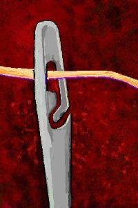SPIRAL EYE EASY THREADING NEEDLE Logo