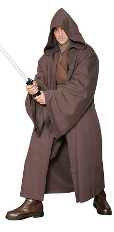 Star Wars Jedi Knight Jedi Robe ALLEEN  donkerbruin  door JediRobeUK