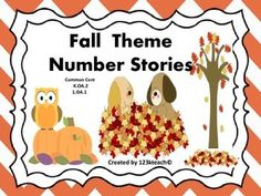 This packet contains ten number word problems for students to solve by answering addition and subtraction number stories.This activity addresses  K.OA.2 or 1.OA.1. Students will show their work by drawing pictures and writing equations to solve problems. Students will enjoy the fall theme graphics and number stories. This activity is perfect for beginning of the year 1st graders or end of the year kindergarteners.