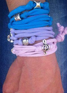 Lycra bracelets with metallic decorations. #lycrabracelets #almanogr