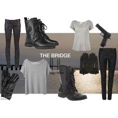 The Bridge - Saga Noren by juliana-blogt on Polyvore featuring мода, Organic by John Patrick, AllSaints, Barbara Bui, Alexander Wang, Mulberry, Topshop, Holster and Steve Madden