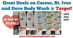 Awesome savings with the NEW Cartwheel offers!!! Be sure to pick up a deal or two by 3/27! Great Deals on Caress, St. Ives and Dove Body Wash @ Target!  Click the link below to get all of the details ► http://www.thecouponingcouple.com/great-deals-on-caress-st-ives-and-dove-body-wash-target/ #Coupons #Couponing #CouponCommunity  Visit us at http://www.thecouponingcouple.com for more great posts!