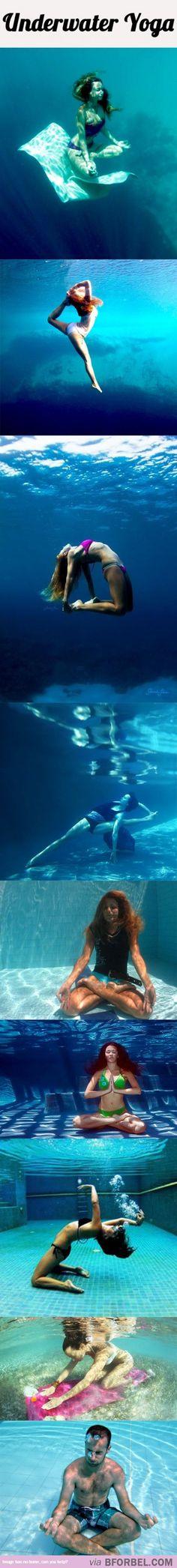 9 Underwater Yoga Poses…