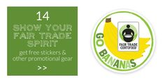 be fair 14 - show off your fair trade spirit and spread the word with these fair trade stickers and stuffs