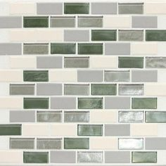 Daltile Coastal Keystones Caribbean Palm Brick Joint 12 in. x 12 in. x 6 mm Glass Mosaic Floor and Wall Tile-CK8721BJPM1P - The Home Depot