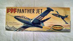 "Vintage 1960's F9F Panther Jet 1 4"" Scale Model Aurora Unbuilt | eBay Plastic Model Kits, Plastic Models, Scale Models, Panther, Aurora, 1960s, Jet, Ebay, Vintage"
