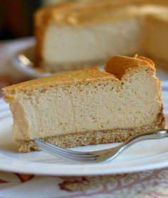 You'd never know this was low fat- I promise!! > LOW FAT PUMPKIN CHEESECAKE #recipe