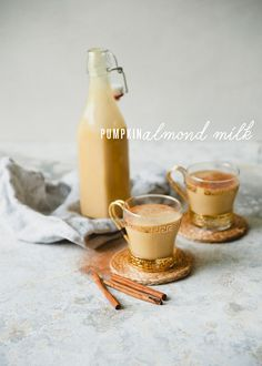 pumpkin spice nut milk via Sweet Laurel