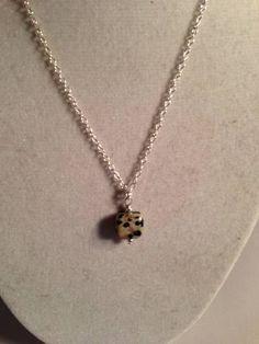 Childs Necklace Dalmatian Jasper Gemstone by prettylittlepretties, $11.00