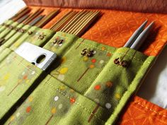 Sewing on Pins: Finished Project: Double Point Knitting Needle Case
