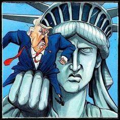 Rip his tiny dick off Lady Liberty!