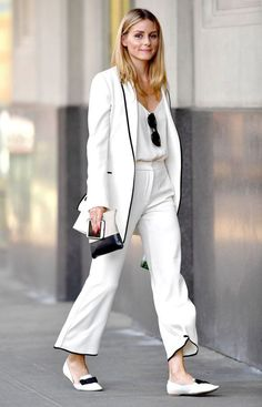 59 trendy Ideas for style summer olivia palermo outfit Look Olivia Palermo, Olivia Palermo Outfit, Estilo Olivia Palermo, White Fashion, Work Fashion, Trendy Fashion, Travel Fashion, Office Fashion, Travel Style