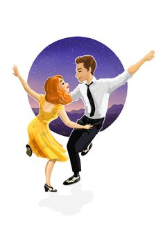 La La Land illustration , by Meritxell Garcia . Emma Stone and Ryan Gosling .  https://instagram.com/meritxellgarciadotcom   #lalaland #lalalandmovie #movie #musical #ryangosling #emmastone #johnlegend #music #dance #illustration #ilustracion #drawing #draw #sketch #meritxellgarcia #characterdesign #art  #laciudaddelasestrellas