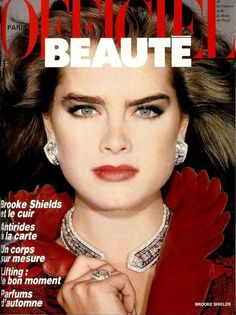 L'Officiel France cover with Brooke Shields - October 1985