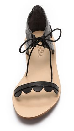 Scalloped sandals.