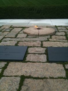 Arlington Cemetery VA. Sept.2011 Eternal Flame...John Fitzjerald Kennedy