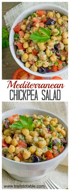 Chickpea Salad. Easy, healthy, and delicious!