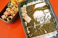 Roronoa zoro bento one piece Bento Box, Lunch Box, Anime Bento, Food Themes, Coconut Flakes, Palak Paneer, Japanese Food, Good Food, Spices