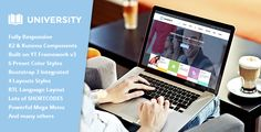 SJ University II – An exclusive Joomla 3.x Template for school/education website with K2 and Kunena component integrated.