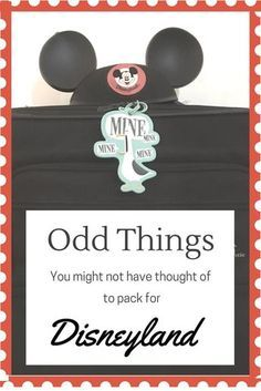 Things that you might want to pack that aren't on the usual packing lists for Disneyland trips.