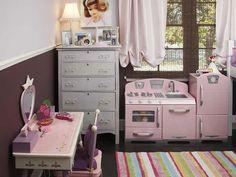 Rosa und Braun Mädchenzimmer