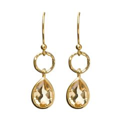 $95 Pendulum earrings citrine